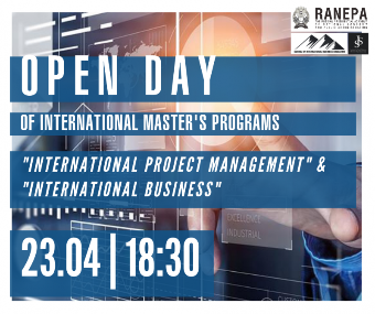 "Open Day of English-language master's degree programs ""International Project Management"" & ""International Business"""